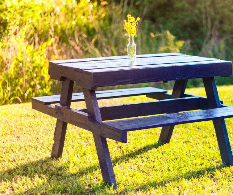 Aprende a construir muebles con palets - Hacer una mesa de trabajo ...