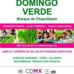Invitan a ciudadanos a participar en Domingo Verde en DF