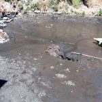 Seca grieta embarcadero de Xochimilco