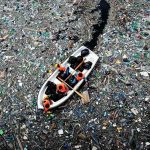 Isla de plástico del Pacífico Norte, del tamaño de Coahuila o Chihuahua