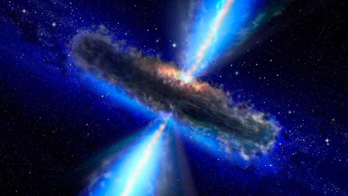 Materia oscura del espacio solo interactúa con la gravedad