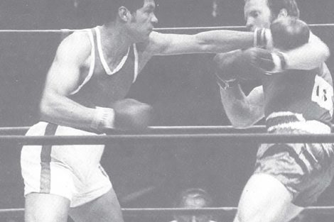 Joaquín Rocha, medalla de bronce en box, + de 80 kg.