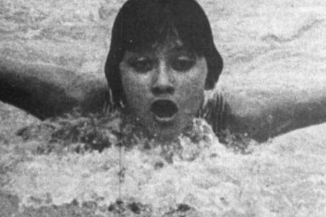 María Teresa Ramírez, medalla de bronce en natación 800 metros estilo libre