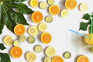 Importante consumo de frutas (sobre todo cítricas) y verduras
