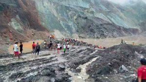 Mueren 162 mineros sepultados por alud en Birmania
