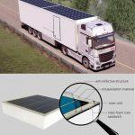 Paneles solares en tráileres ahorrarían mil 900 litros de combustible al año