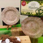 Elaboran platos biodegradables con fibra de coco