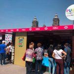 Exhiben atractivos culturales de Puebla en el Zócalo de la CDMX