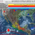 Seymur se debilita a categoría 1 y se aleja de México