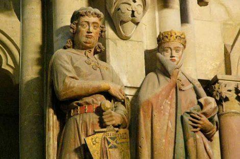 La catedral de Naumburgo en Alemania