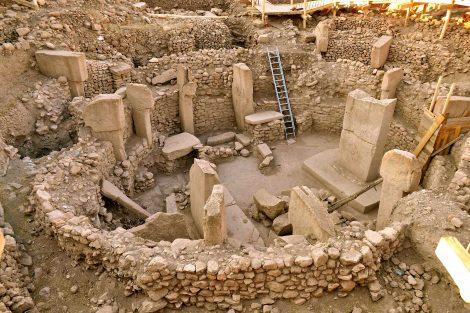 El sitio arqueológico Goebekli Tepe, al sudeste de Anatolia, Turquía
